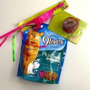 Cat kitty pet supplies bundle toys/food